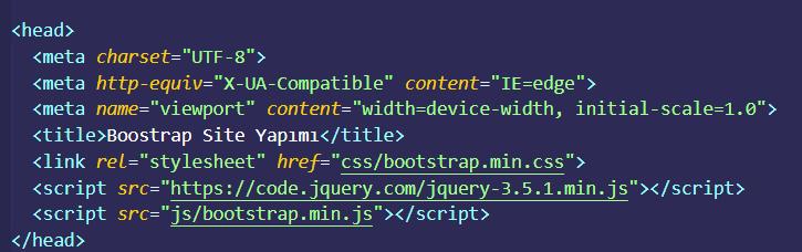 bootstrap header örnegi