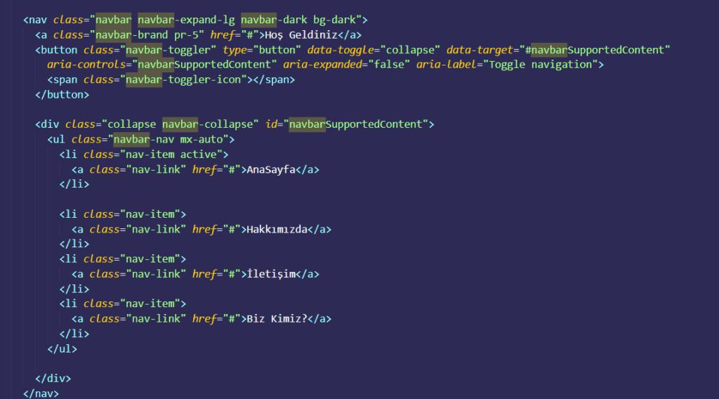 bootstrap-navigasyon-menusu